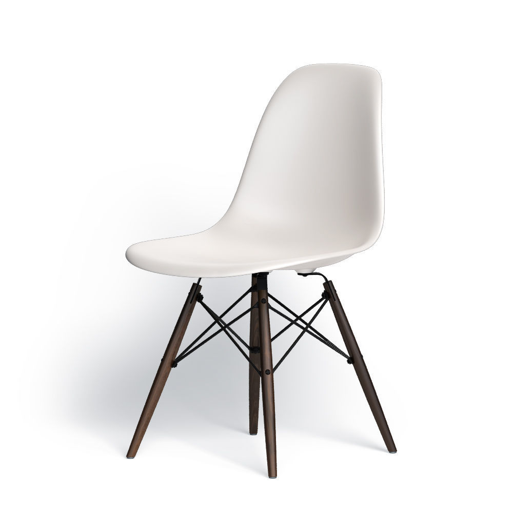 Eames Plastic Side Chair, SH 43 cm
