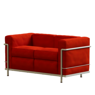 LC2 2er Sofa Rock Stoff